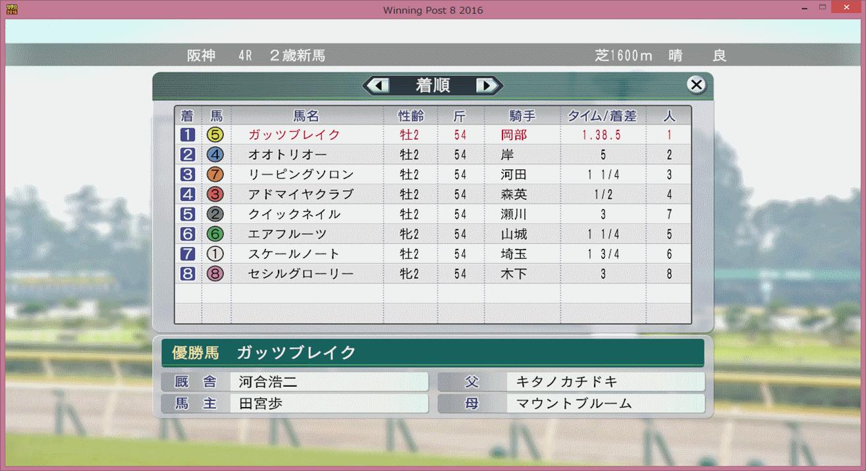 【ウイポ8 2016】初セリ馬初勝利